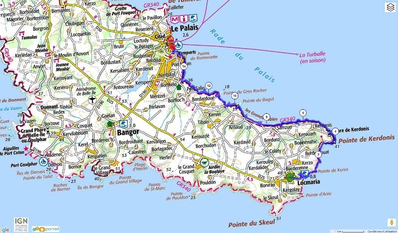 Tour de belle ile en mer pied en 4 jours 4 4 - Office du tourisme belle ile en mer ...