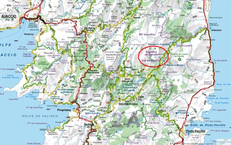 Carte Corse Bavella.Le Col De Bavella