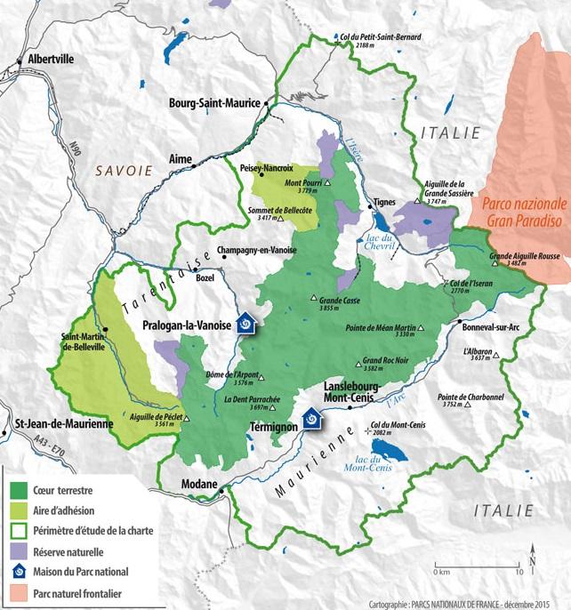 parc de la vanoise carte 5 randonnées dans le parc de la Vanoise, sans voiture